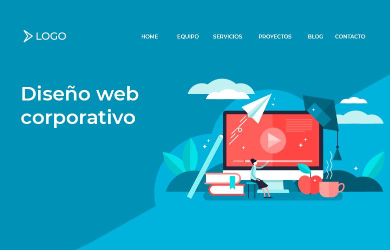 diseño web corporativo estructura